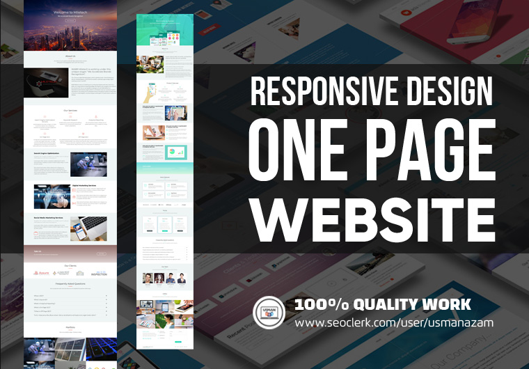 I will build responsive HTML,  WordPress One Page Website,  clone websites
