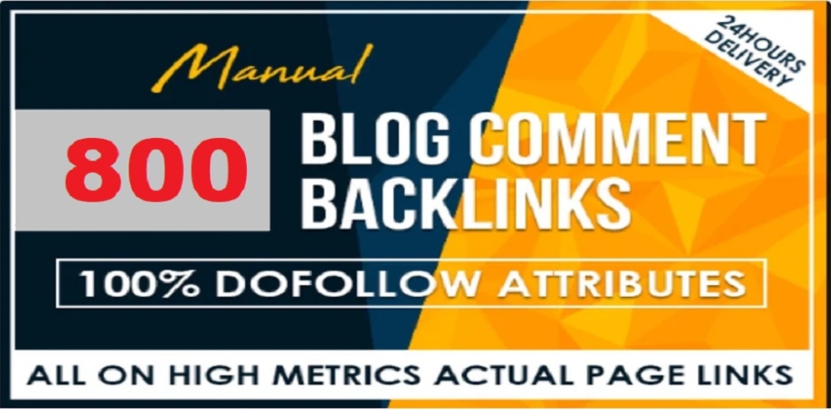 I will 800 Dofollow Blogcomment high DA Backlinks