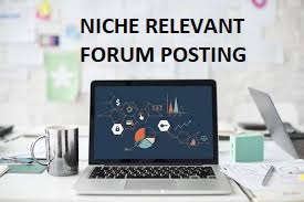 I can do HQ 10 niche relevant forum posting for your website