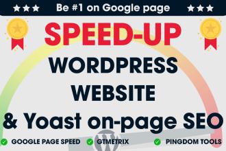 I will do wordpress speed optimization , increase page speed