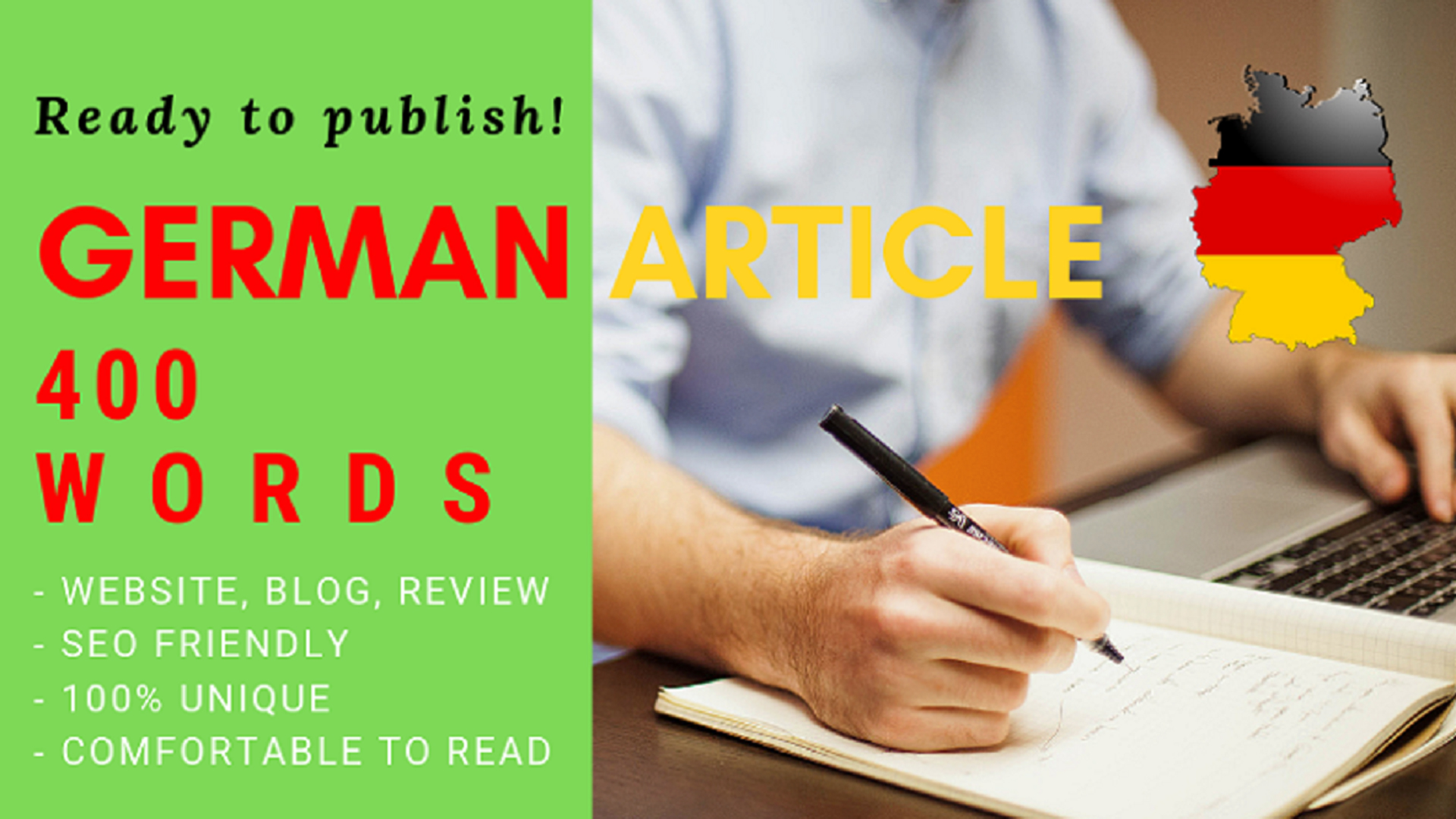 Write an Article in German Language within 400 words or more