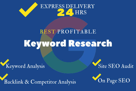 I will do excellent SEO 100 keyword research for ranking