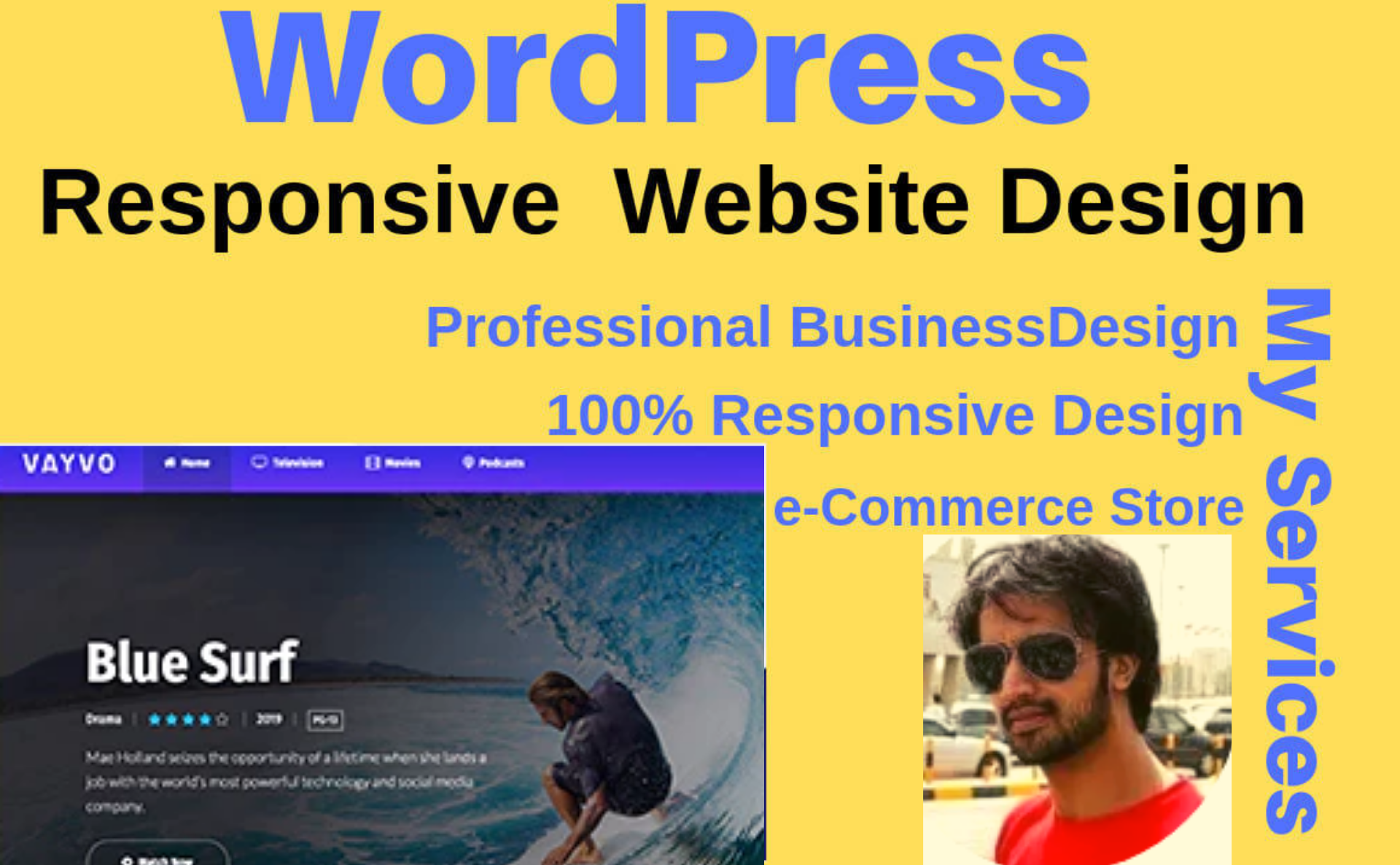 Create a responsive wordpress website design with 2 days free support