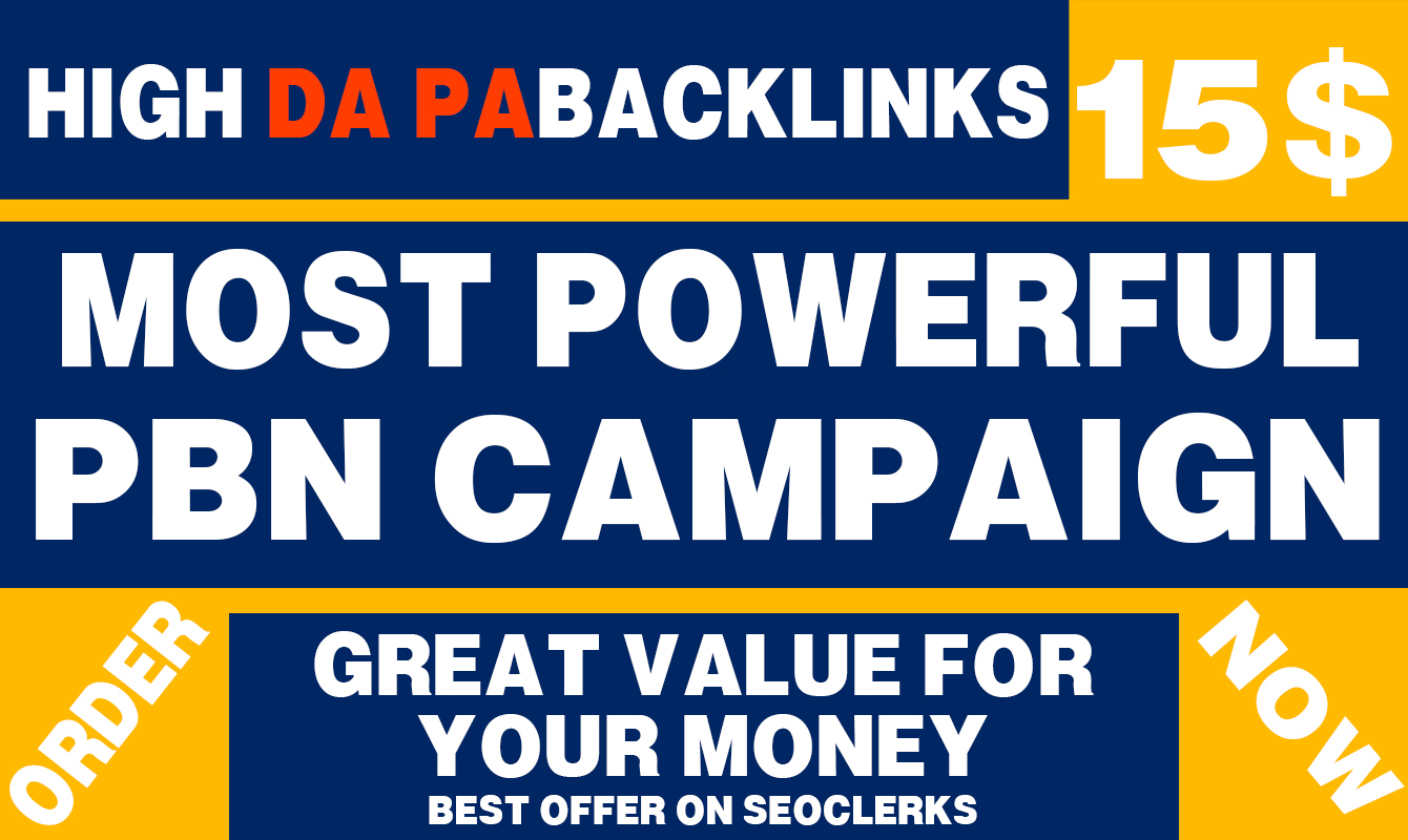 Highly Effective PBN Backlink Campaign for 7 Days