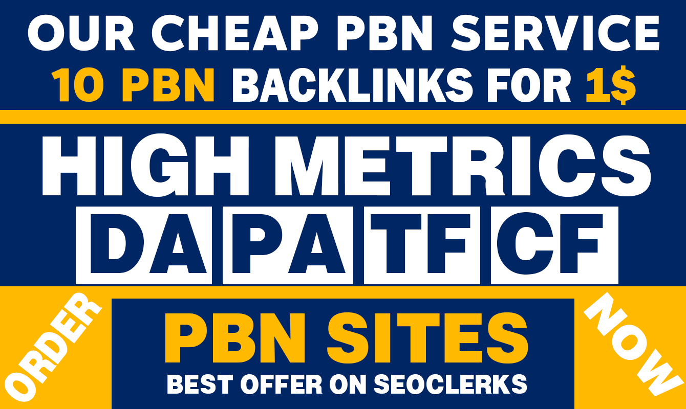 Cheap PBN Service,  Provide 10 PBN Home Page Dofollow Backlinks