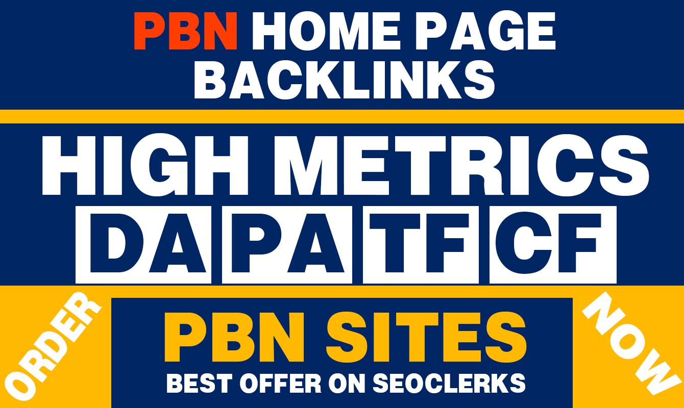 Build 20 Contextual PBN High DA PA (25+) Home Page Dofollow Backlinks