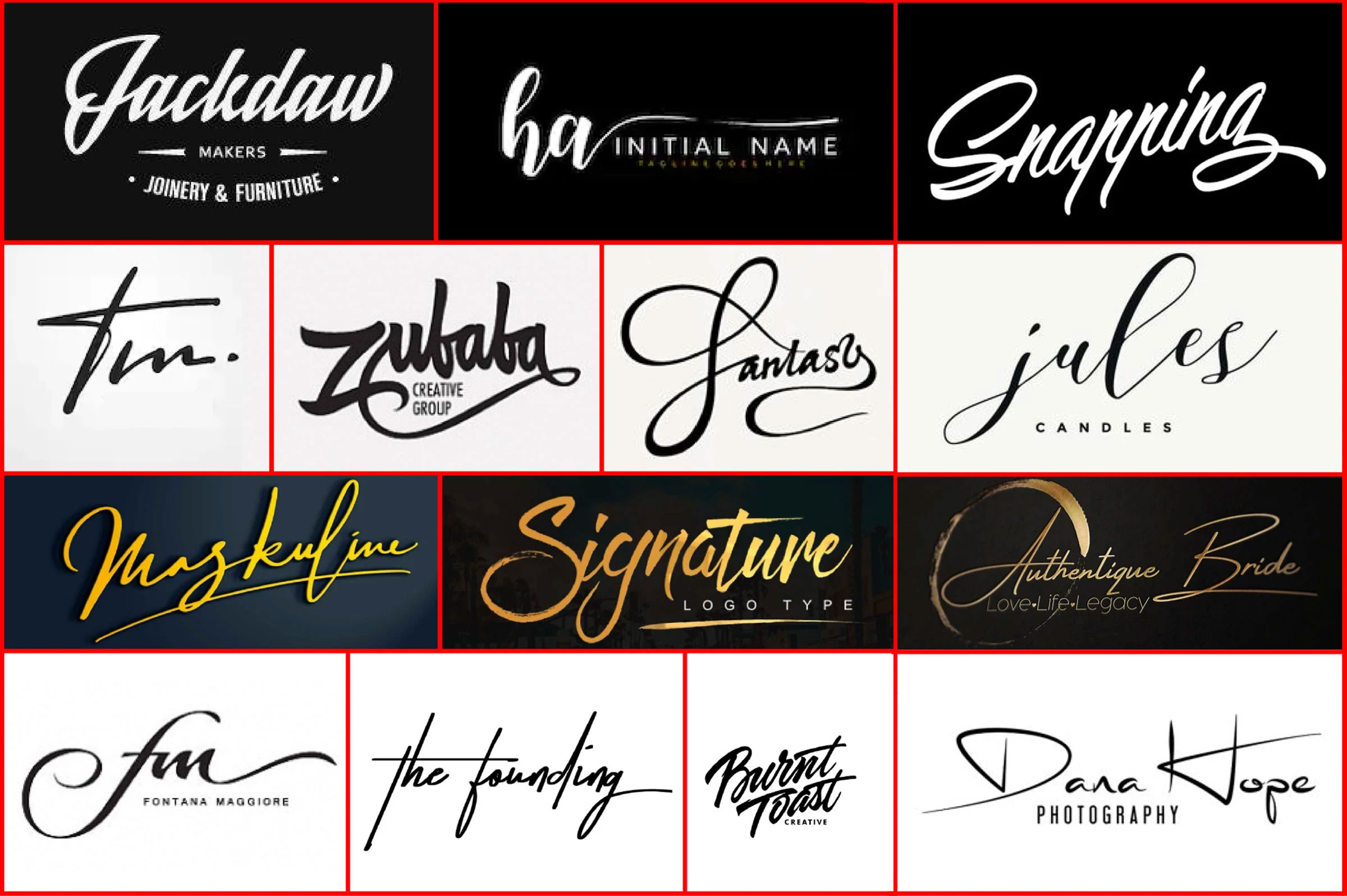 I will do design professional signature logo