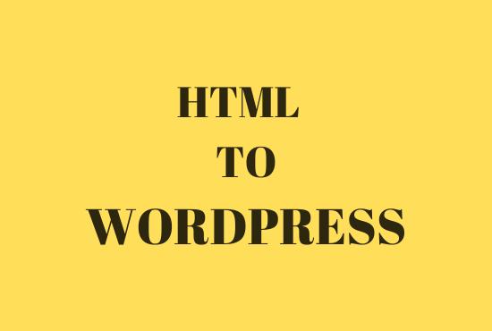 Customize HTML to Wordpress website