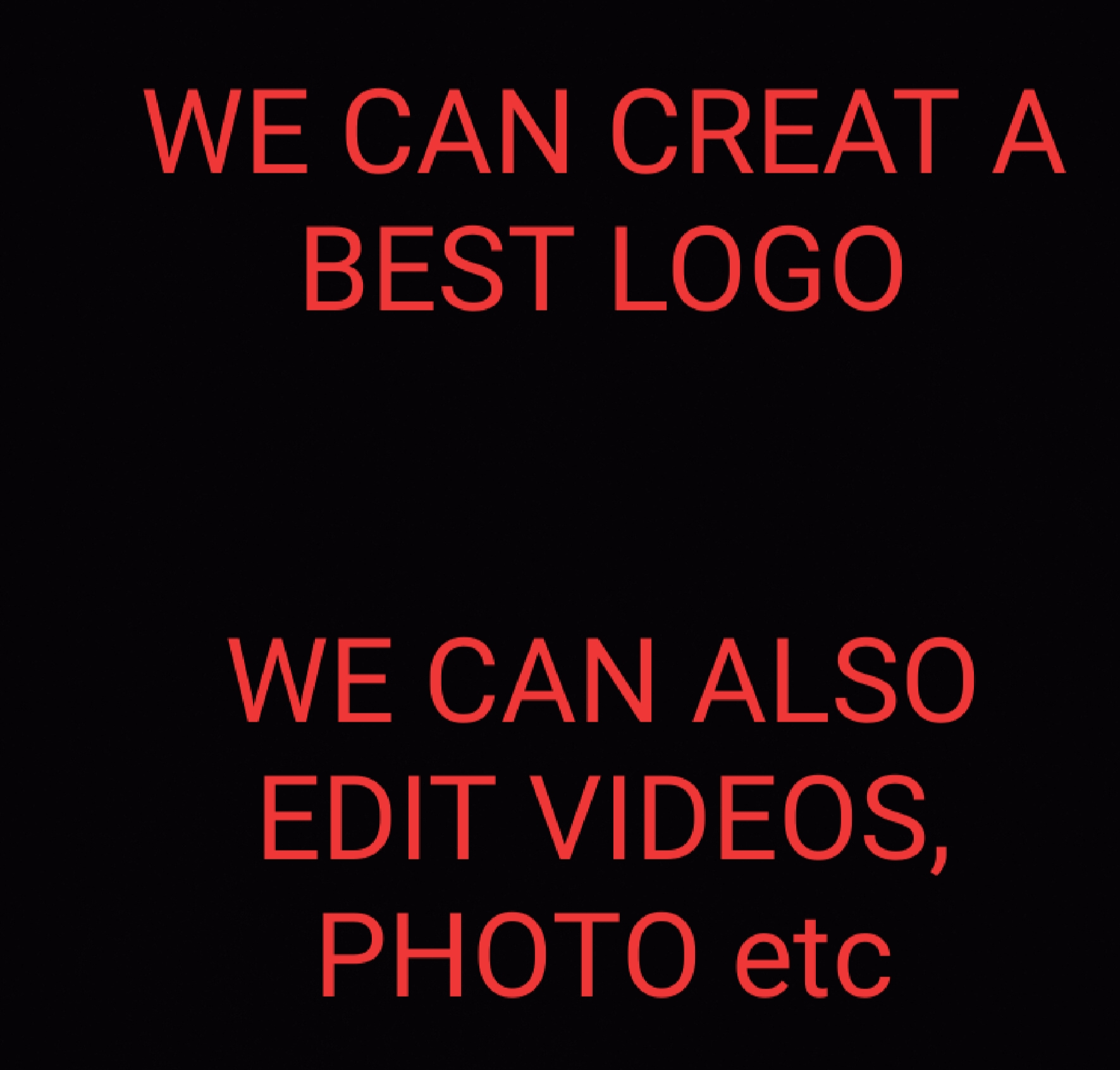 We create a best logo in short time