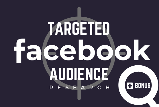 I will provide laser targeted audience to boost your FB ads conversion.