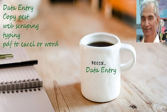 I provide data entry service to customers