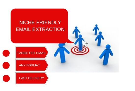 I will scrape 1,000 - 10,000 Niche friendly email list for your business promotion from your desire