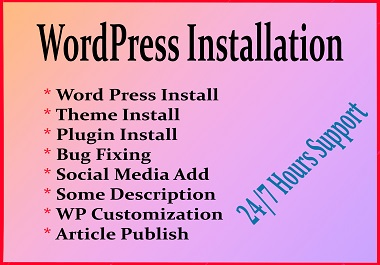 WordPress Install and Setup a Complete WP Website
