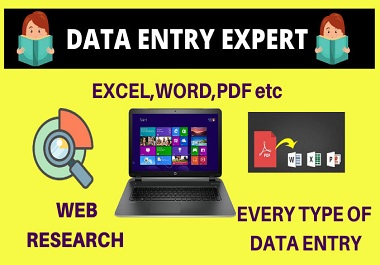 I will complete any type data entry work manually in 12 hrs