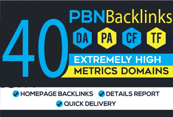 I Will Provide 40 Dofollow Homepage PBN Backlinks Da 25+