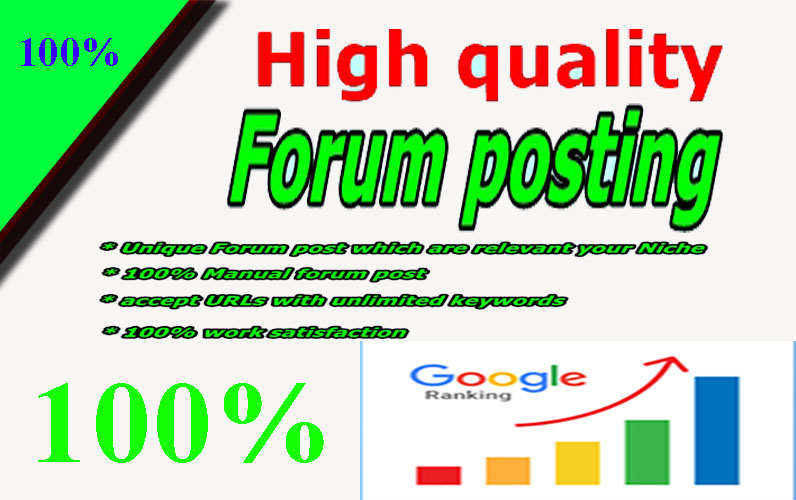 Niche Relevant Forum Posting With High DA PA