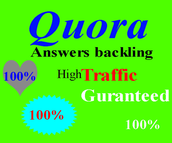 10 High quality Quora backling with targeted traffic