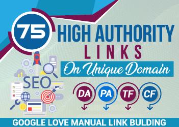 I will do 75 unique domain SEO backlinks on da100 tf100 sites