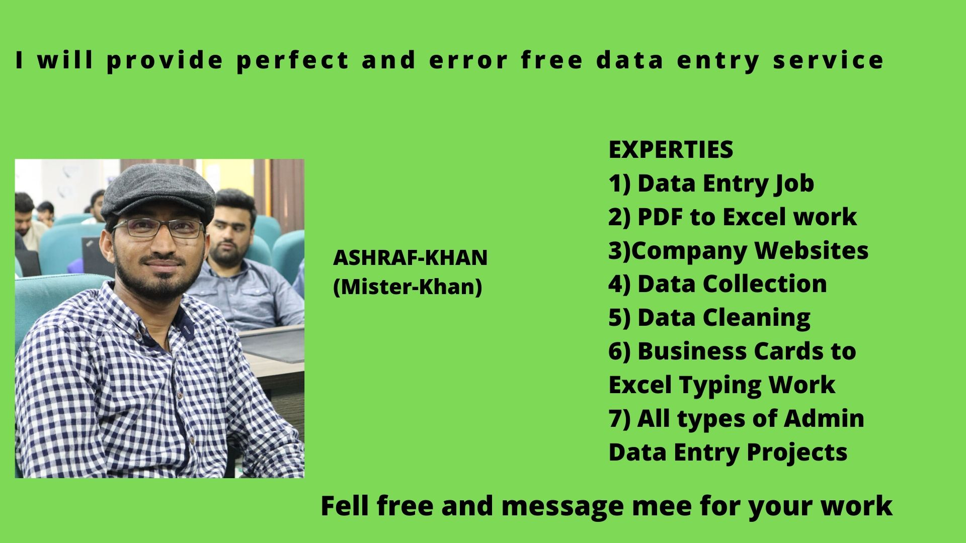 provide perfect and error free data entry service