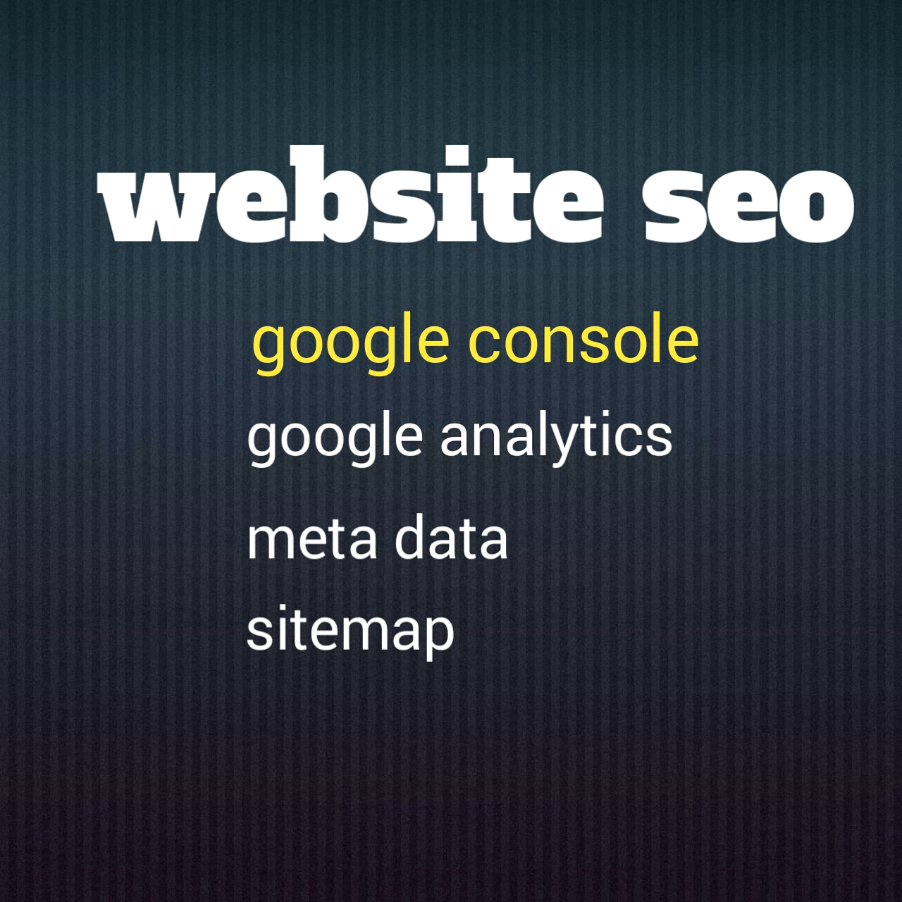 I will complete your website important SEO