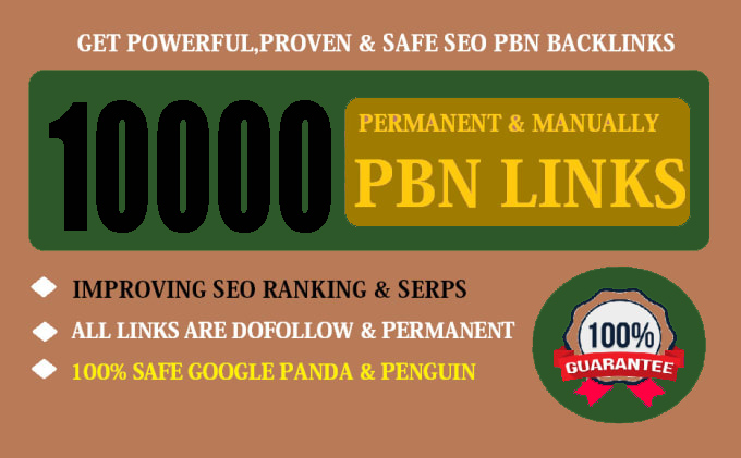 Buy Extream 10000 Permanent PBN Backlink with High DA/PA CF/TF on your Homepage with unique Website