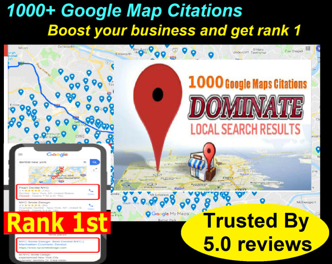 I will do google citations map citations local SEO local business