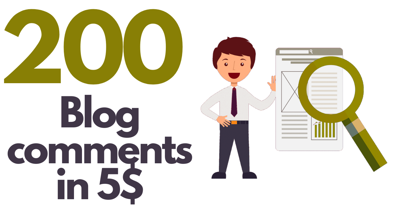 I will do professional 200 dofollow blog comments low obl High quality backlinks