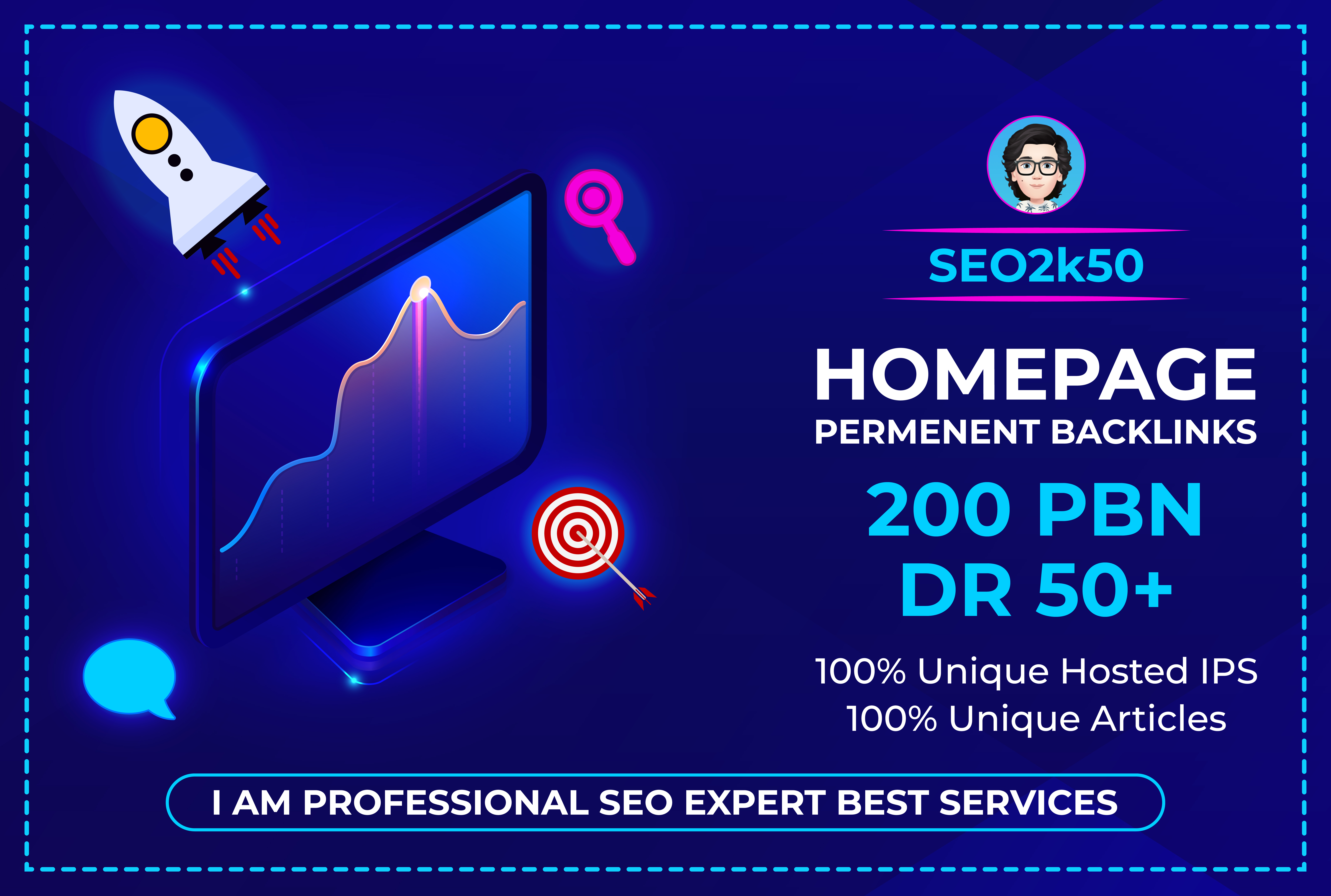 I will make 200 PBN Permanent DR 50+ Homepage high quality Dofollow Backlink