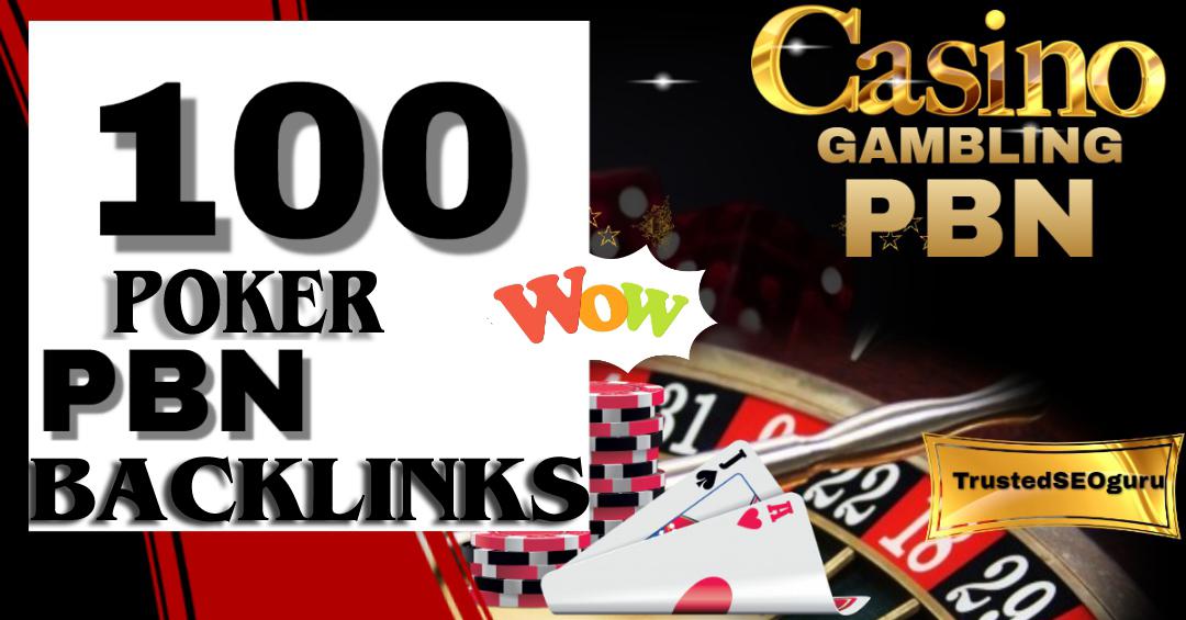 Rank your website 100 PBN DR 60+ casino Online Poker Esports Betting slotxo Gambling Websites