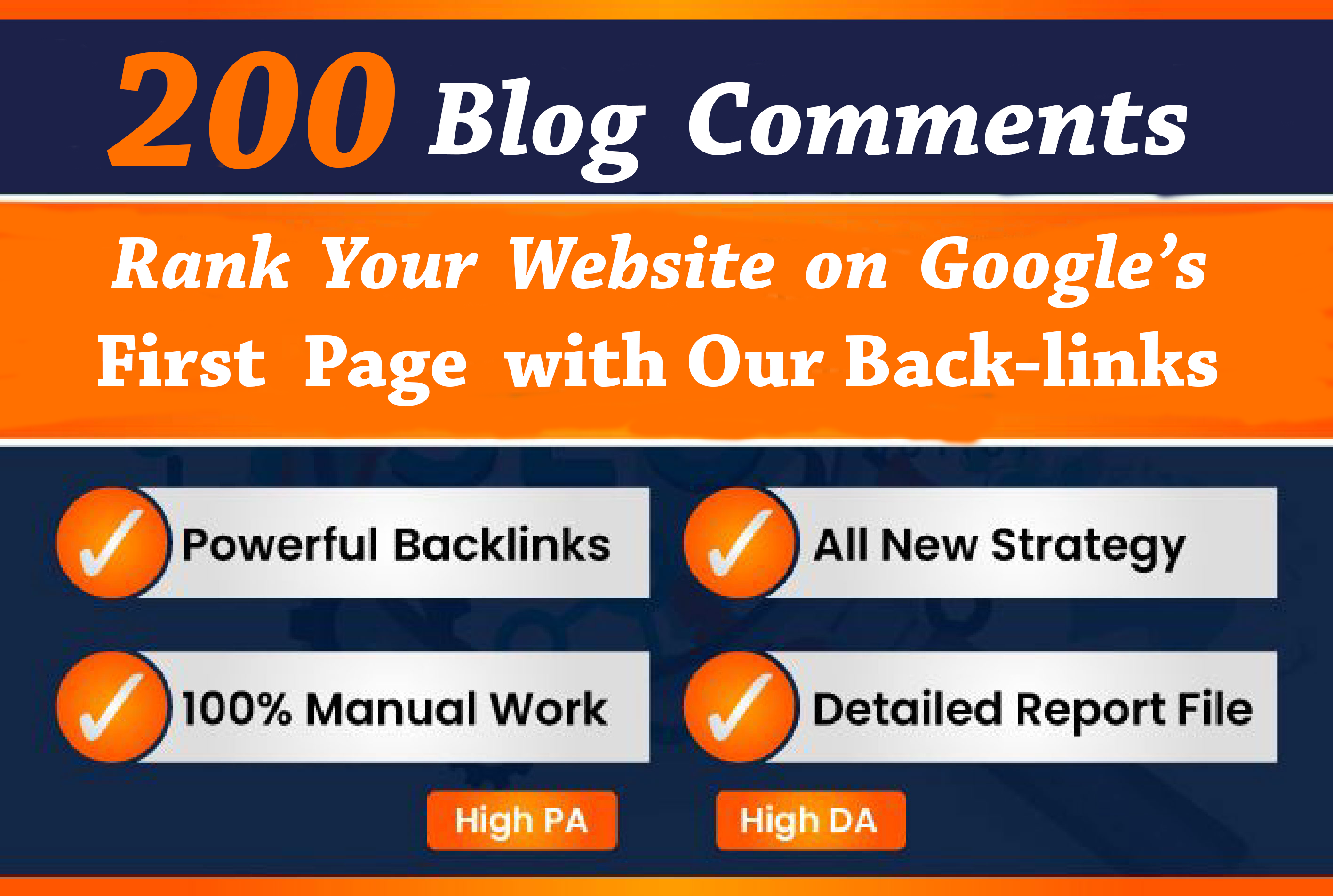 I will 200 blog comment quality high unique domains DA PA TF CF 30+ backlinks