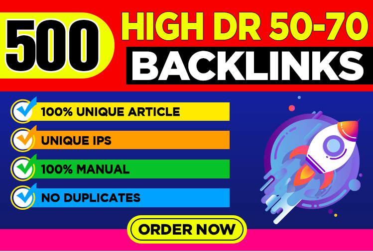 I will PBN 500 unique Domain DR 50 to 70 high quality dofollow backlinks
