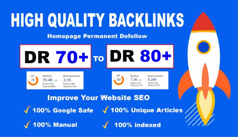 Bluild 10 PBN DR 70+80 high quality homepage dofollow backlinks