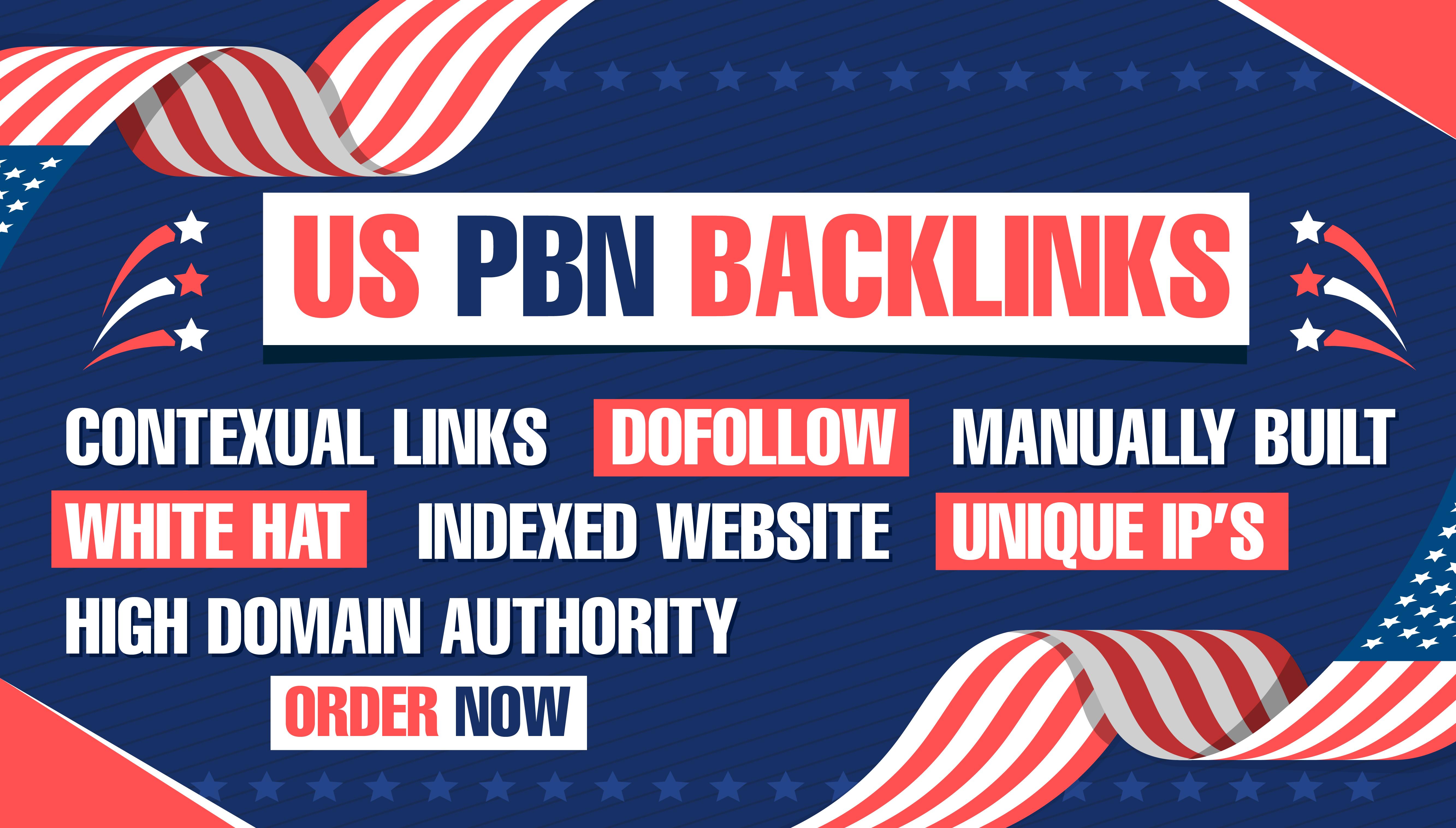 Build 5 PBN. US domains DA 70+ PA 40+ 0 spam score HIGH Quality HomePage Do follow Backlinks