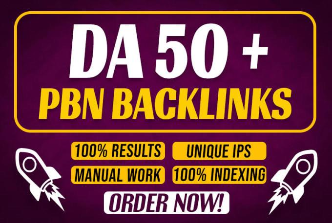 Create PBN 10 Permanent DA 50+ Homepage Permanent high quality do follow Backlink
