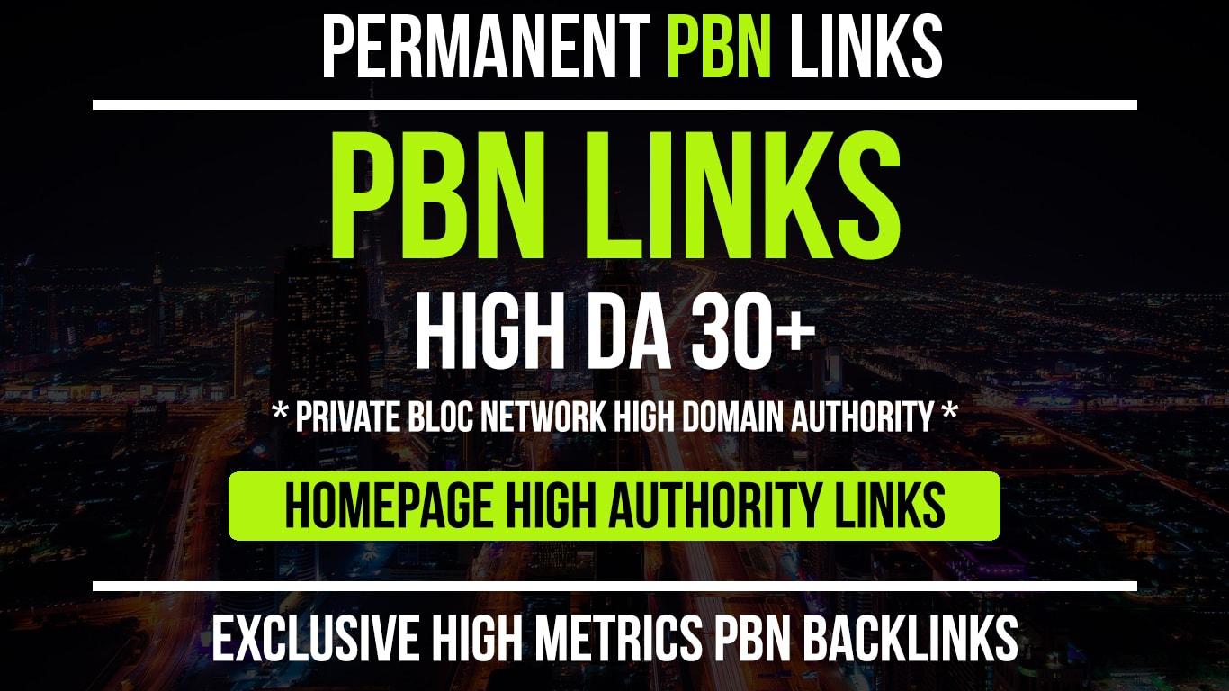 I will 10 Manual HIGH TF CF DA PA 30+ Dofollow PBN Backlinks