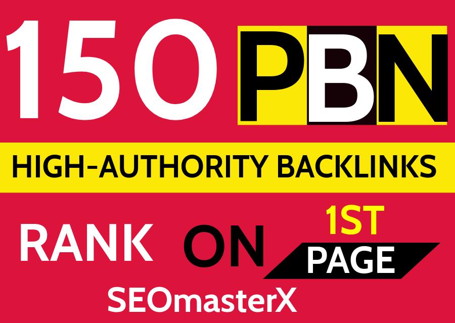 Create PBN 150 Permanent DA 75+ Homepage high quality dofollow Backlink