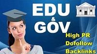 I will do provide 20 Gov and 20 edu backlinks High Da Pa