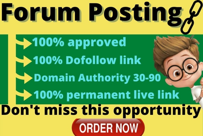 I will provide high quality forum posting seo back links