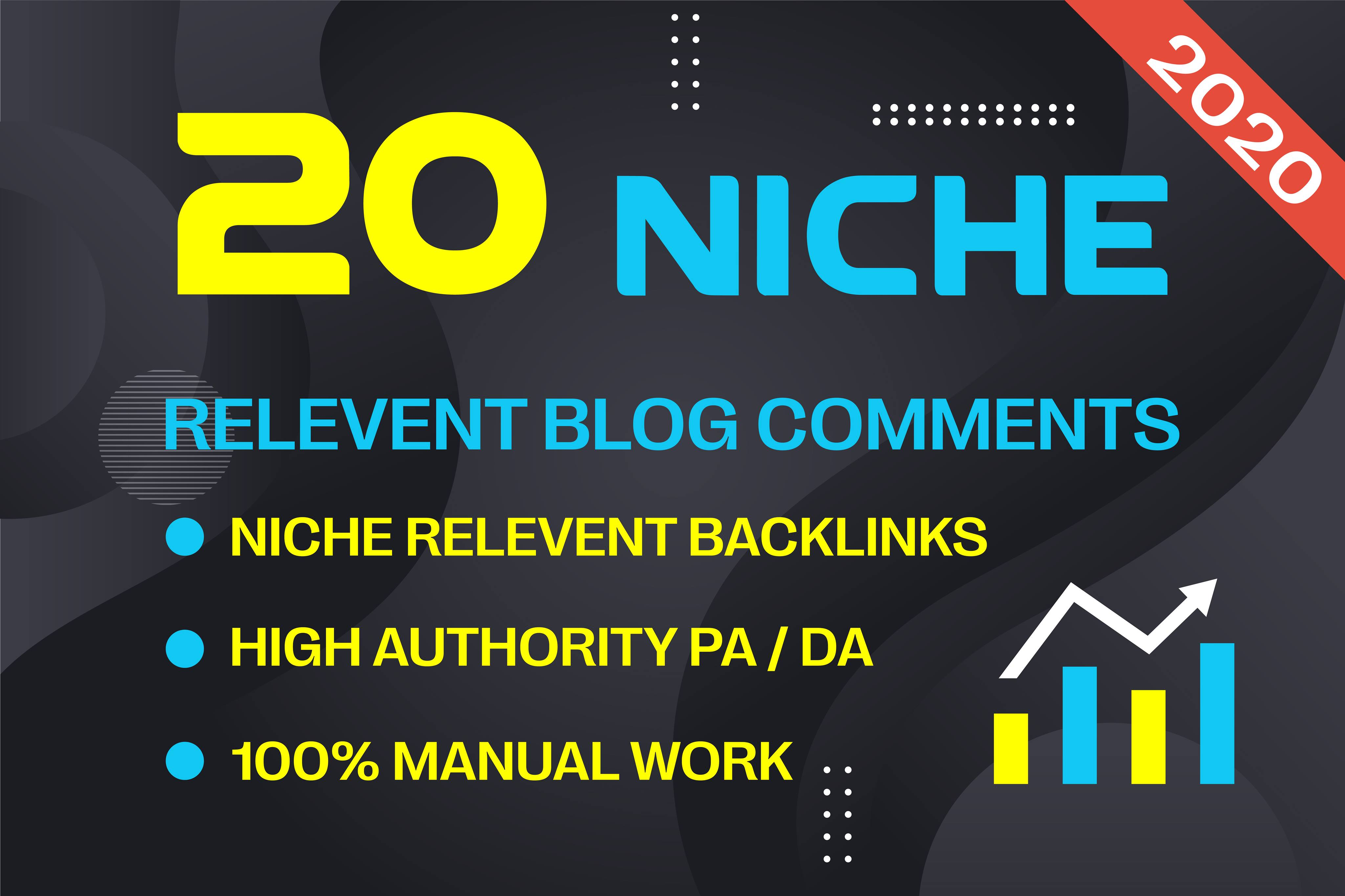 I will do 20 niche no follow blog comments