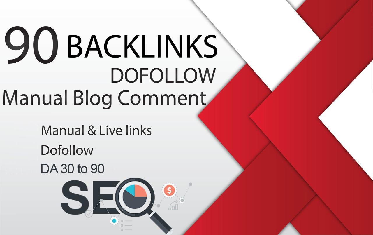 Get 90 Unique Minimum Obl Blog Comment Backlinks Dofollow On DA 30 to 90