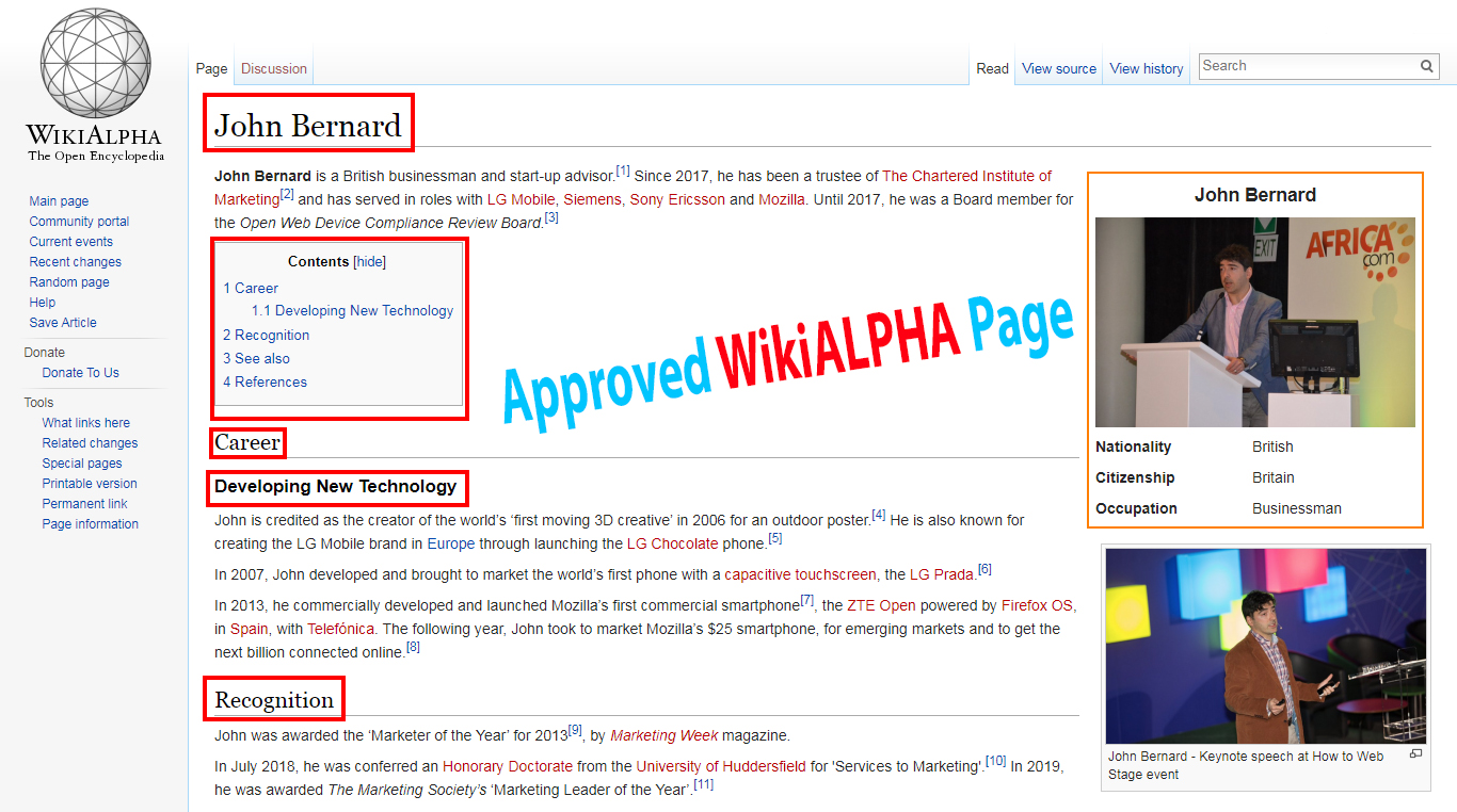 I will Create Approved Wikialpha Page