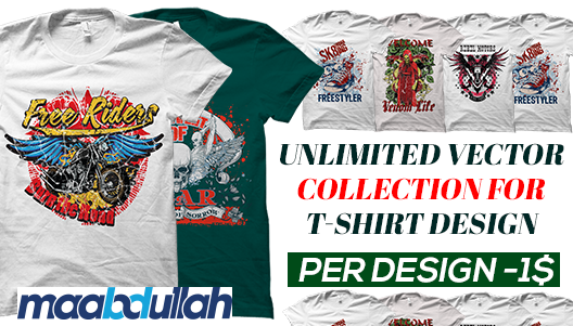 Unlimited t shirt design vector