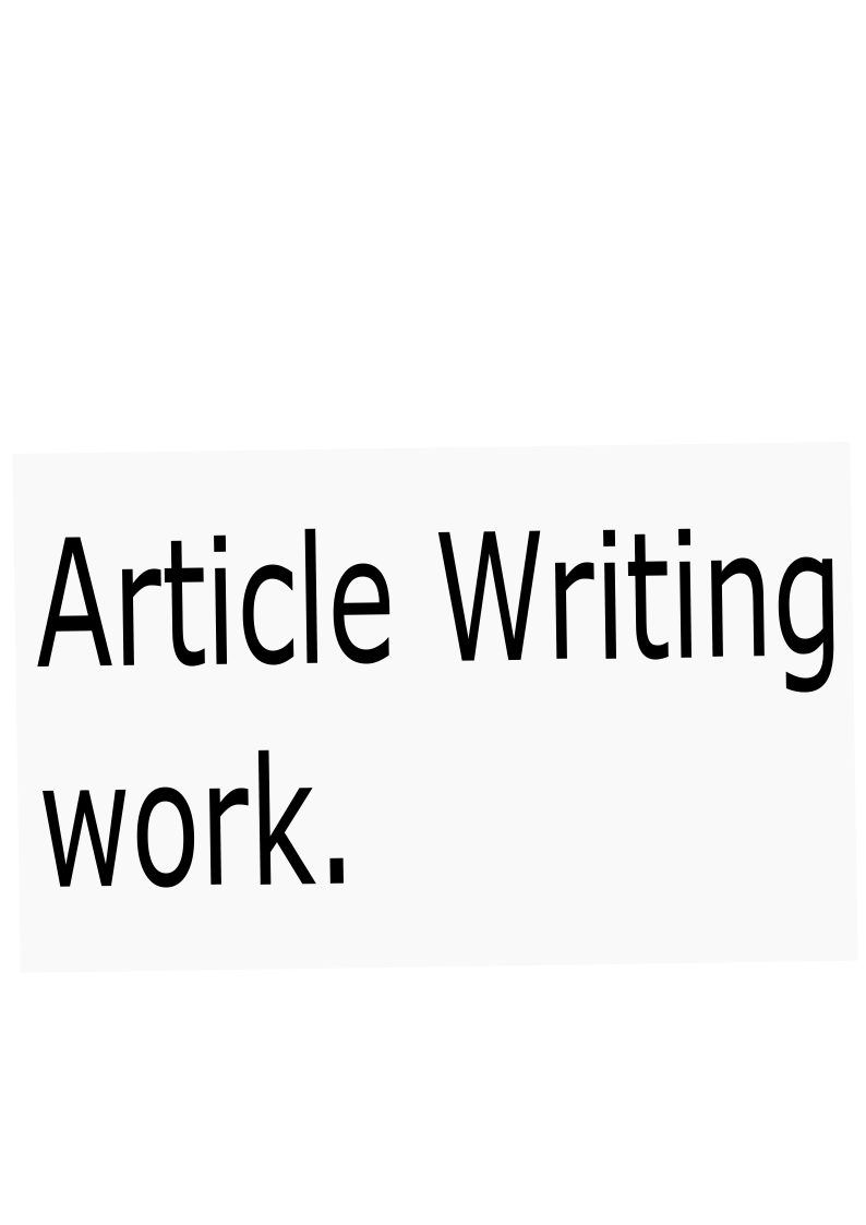 I write an article with in a day or short time