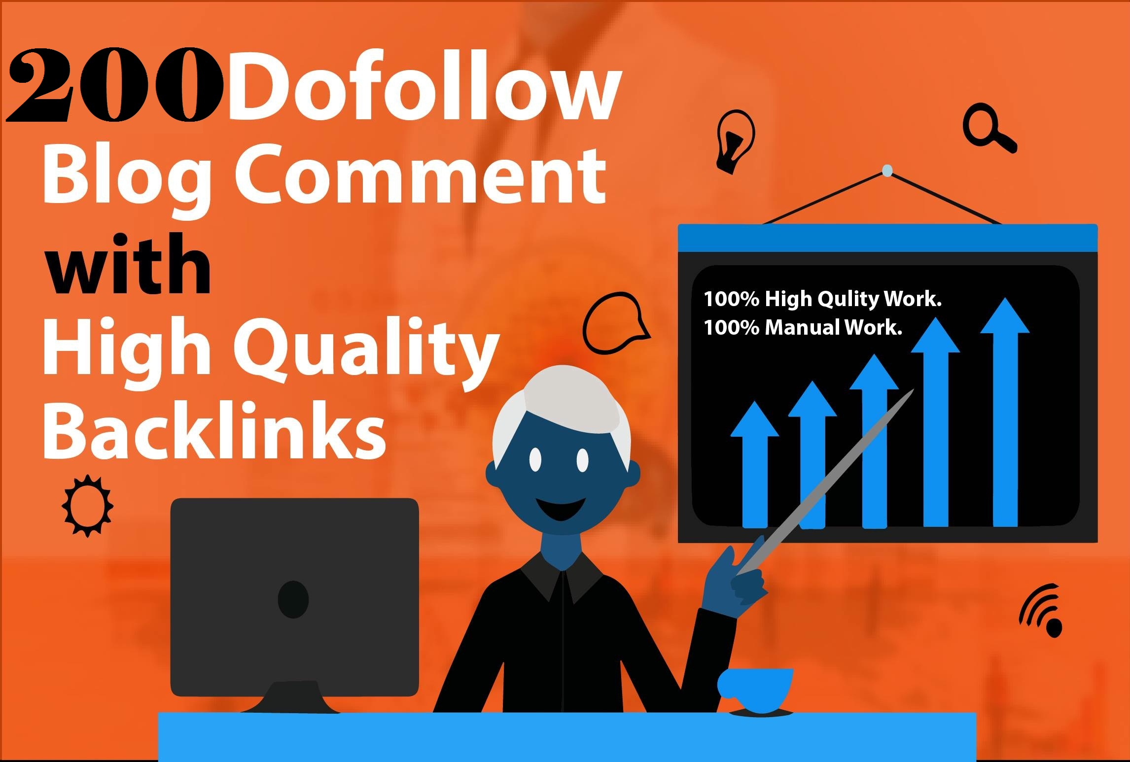 I will Built 200 Dofollow Blog Comment PR10 SEO Backlinks HIGH DA 90 Plus Sites