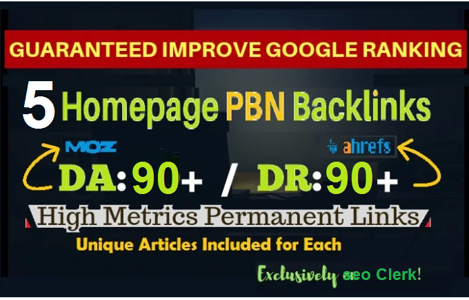 Permanent 5 PBN Links High DA 50 Plus DR40 plus High TF CF All Dofollow Backlinks