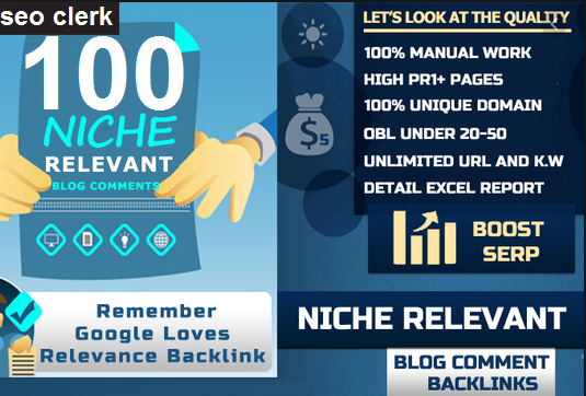 I will make 100 niche related backlinks ON high DA PA and Low OBl blog comments