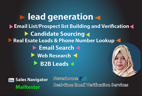 I will do perfect b2b lead generation, web scrapping