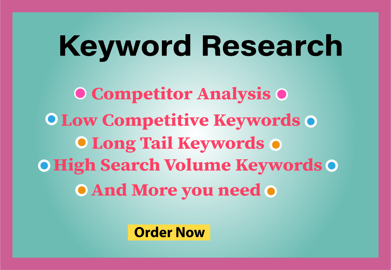 I Will Do Keyword Research and Competitor Analysis For You