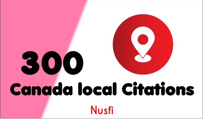 100 Canada local Citations and directory submission for local seo
