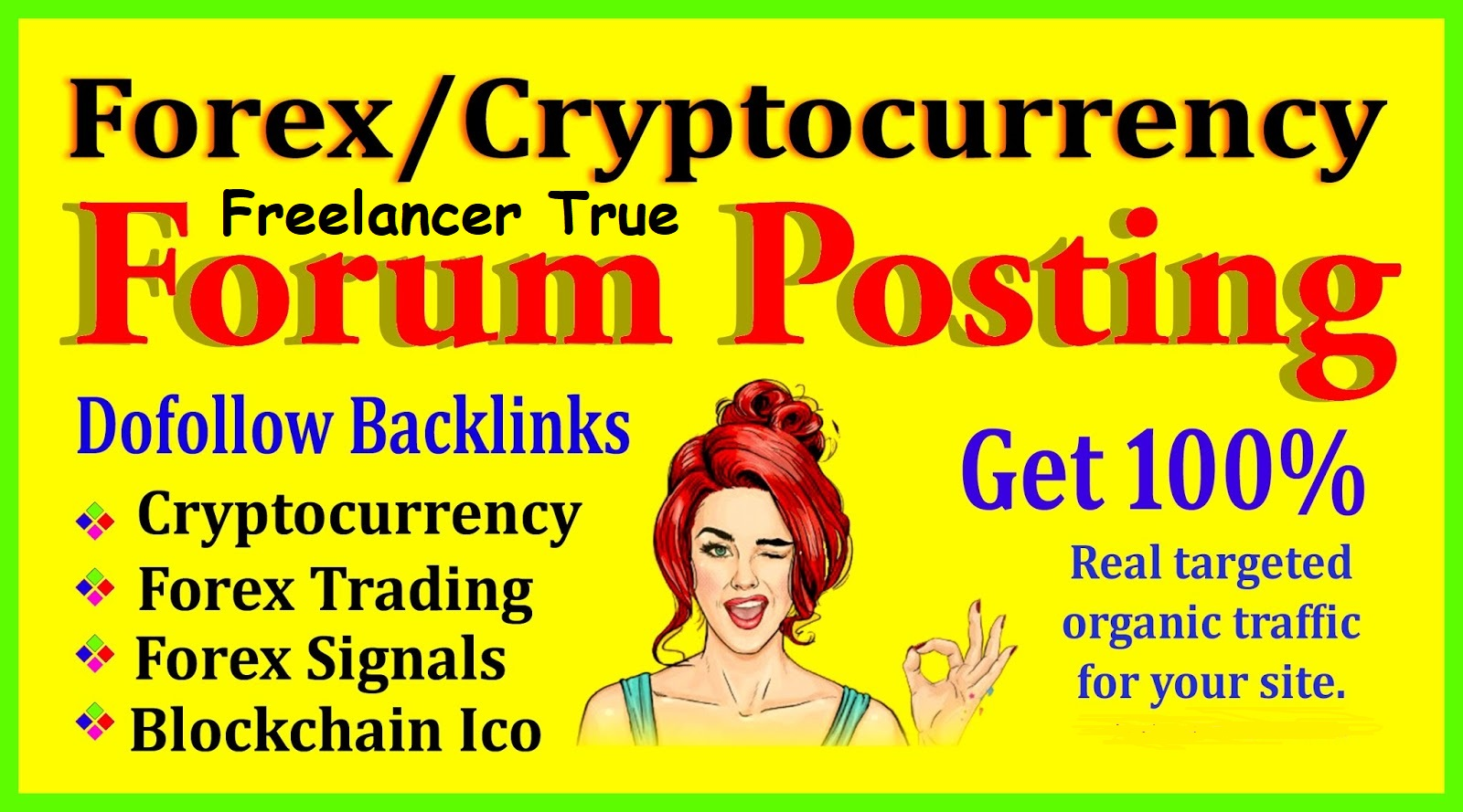 20 forex and cryptocurrency promotion by forum posting